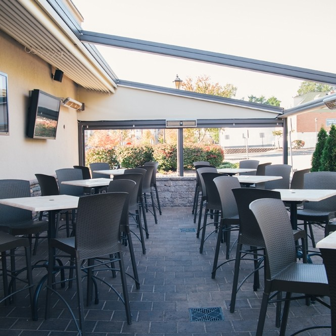Berkeley Heights outside 4 seasons patio