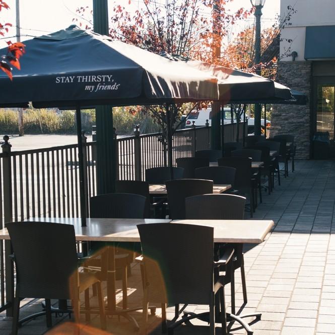 Berkeley Heights outdoor side patio